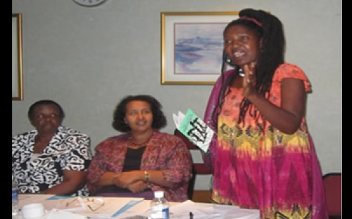 ZPSP Trustee, Comrade Freedom Nyambuya, opens the ZPSP Gender and SST Workshop, Harare,  November 2011